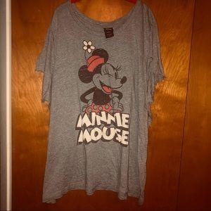 Disney minnie mouse gray tshirt plus size 5x